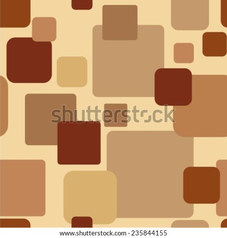 Seamless geometrical abstract pattern. Coffee background.  - stock vector