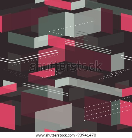 seamless geometrical pattern - vector illustration - stock vector