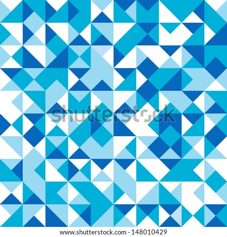 Seamless geometrical vector background  - stock vector