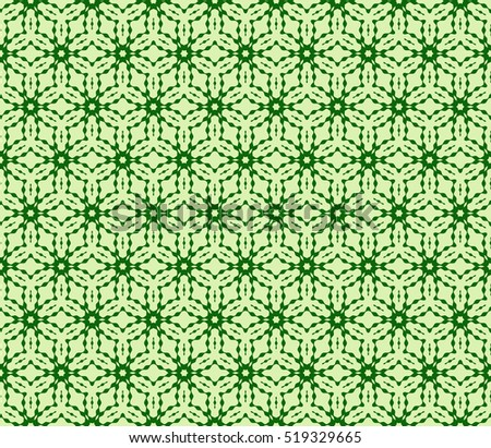 seamless geometry flower pattern. Arabesque. abstract vector illustration. green color. for design invitation, background, wallpaper