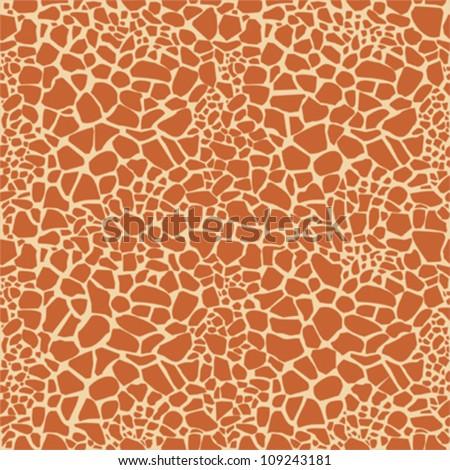Seamless  giraffe fur pattern - stock vector