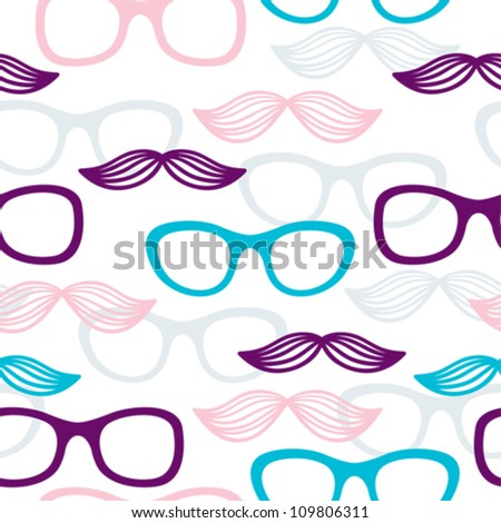 Colorful Nerd Glasses With Mustaches Download