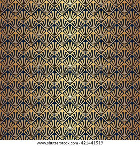 Shutterstockvectorayart deco patterns and backgrounds seamless gold art deco pattern background voltagebd Images