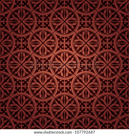 Seamless Gothic Wallpaper Stock Vector 2018 107792687