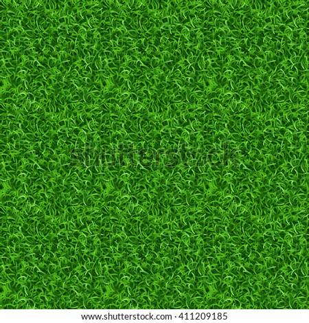 Seamless grass vector texture. Green grass, meadow grass pattern, field grass seamless texture illustration - stock vector