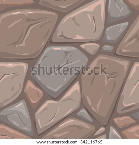 Seamless gray stone texture, vector tileable square background - stock vector
