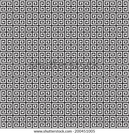 Seamless Greek Key Background Pattern Texture - stock vector