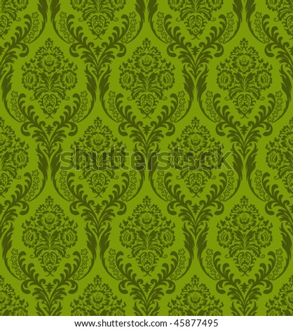 Seamless green background - stock vector
