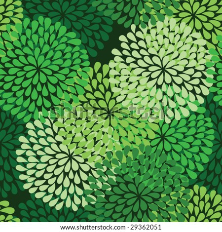 seamless green pattern in vector - stock vector