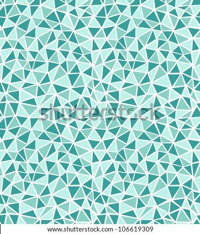 Seamless green triangle background. Vector illustration - stock vector