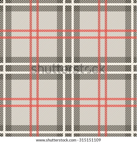 Seamless grey checked plaid pattern. Abstract vector background. Backgrounds & textures shop. - stock vector