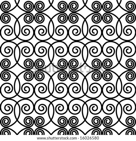 seamless grille pattern - stock vector