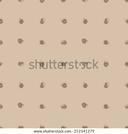 Seamless Grunge Pattern of Tracing Brush Strokes - stock vector