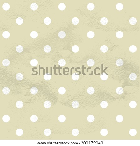 Seamless grungy vintage pattern from polka dot - stock vector