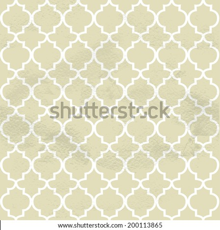Seamless grungy vintage pattern from the forged figured lattice - stock vector