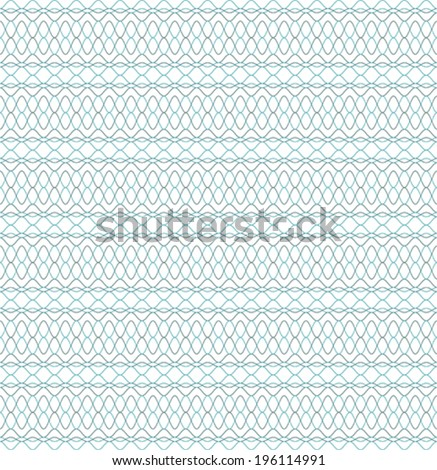 Seamless guilloche pattern, background for banknote, voucher or certificate