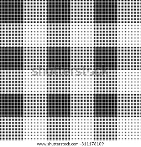 Seamless halftone pattern with square elements, tablecloth pattern - stock vector