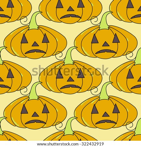 Seamless Halloween pattern, flat style. Endless texture. Use for wallpaper, textiles, pattern fills, web page background