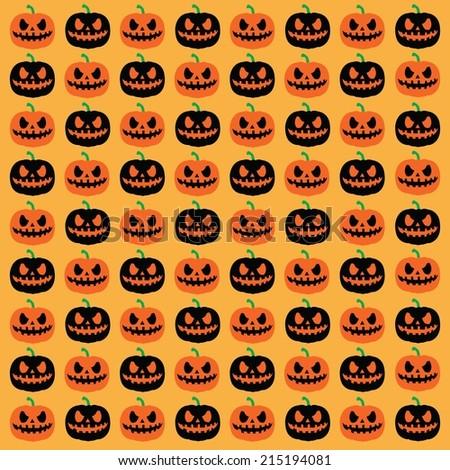 Seamless Halloween pattern with pumpkin.Vector illustration - stock vector