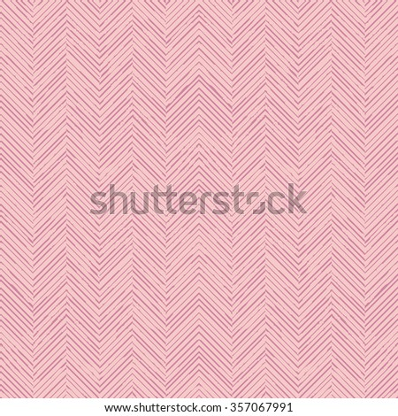 Seamless hand drawn chevron herringbone vector background pattern tile
