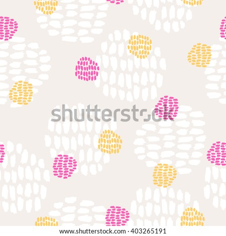 seamless hand drawn pattern - stock vector