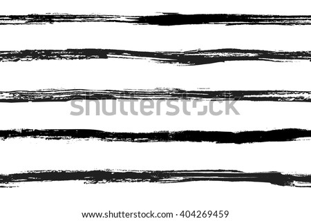 Seamless hand drawn striped pattern. Vector illustration