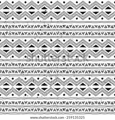 Black And White Tribal Pattern Stock Images, Royalty-Free ... - photo#22