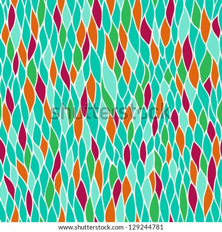 Seamless hand drawn tangled texture. Abstract endless blue pattern. Template for design and decoration - stock vector