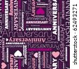 Seamless happy anniversary background pattern in vector - stock vector