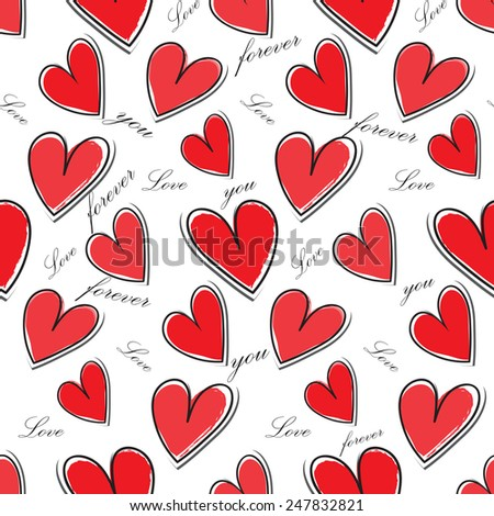 seamless heart pattern, vector