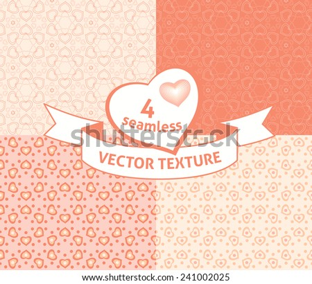 Seamless hearts pattern. Pink love background