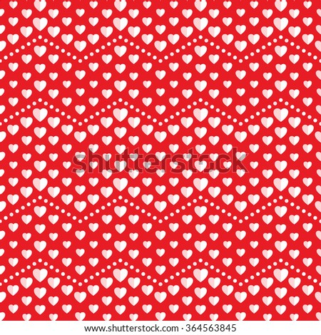 Seamless hearts Pattern. Valentines day red background. Abstract Background. Chains of hearts. 14 February love seamless pattern. Garlands of hearts. Grid. Geometric Pattern. Vector Regular Texture