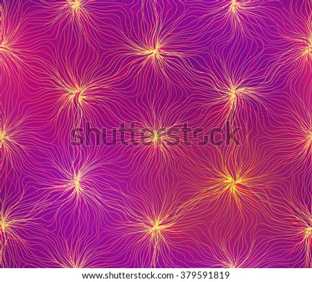 Seamless hexagon lines pattern electric shine