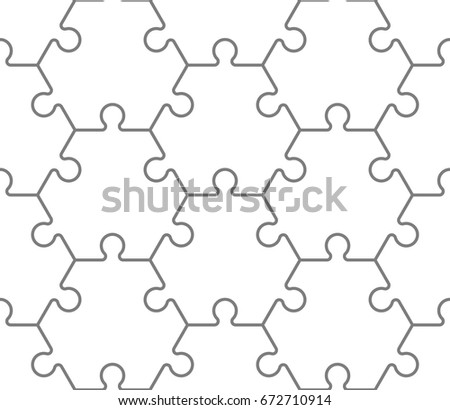 Seamless Hexahedron Puzzle Pattern Hexagon Puzzle Stock Vector ...