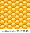 Seamless honeycomb pattern, vector illustration, eps10, 3 layers - stock vector