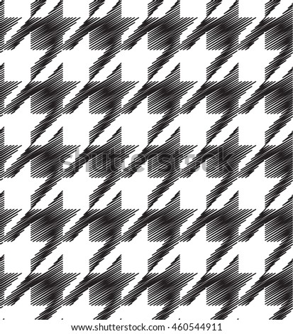 Seamless hounds-tooth pattern background with black and white