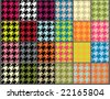 seamless houndstooth background set - stock photo