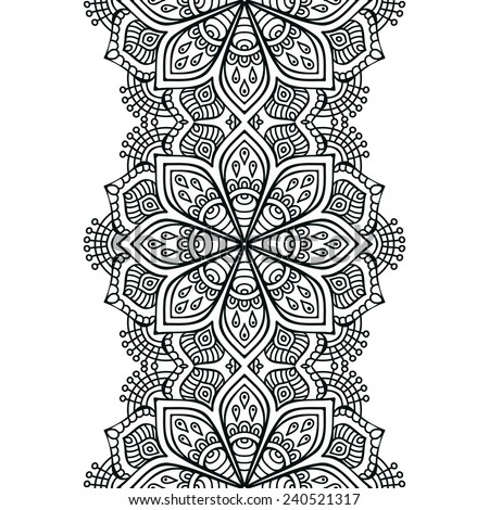 Seamless Indian Pattern Stock Vector 240521317 - Shutterstock