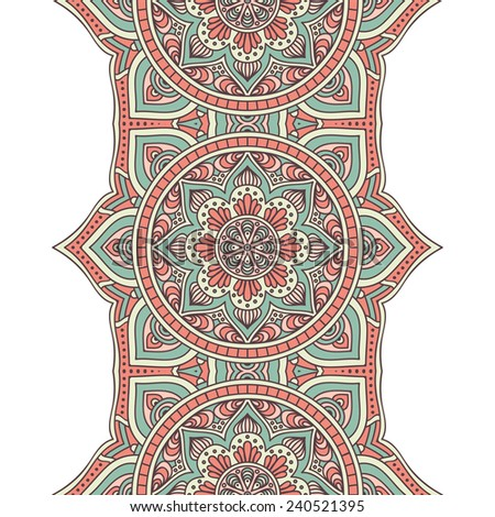 Seamless indian pattern - stock vector