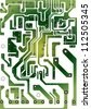 Seamless industrial background with circuit board, - stock photo
