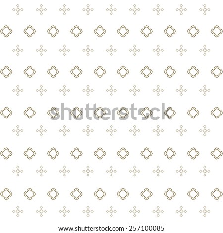 Seamless Islamic background, Vector abstract geometric background. Based on ethnic ornaments. Intertwined paper stripes. Elegant background for cards  - stock vector