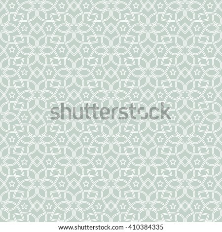 Seamless Islamic pattern.  Ethnic  pattern. Can be used for ceramic tile, wallpaper, linoleum, surface textures, web page background - stock vector