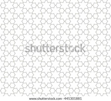 Seamless Islamic Pattern Line Art. - stock vector