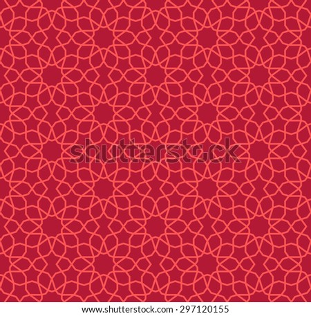 Seamless Islamic Pattern of Ten Point and Five Point Stars. - stock vector