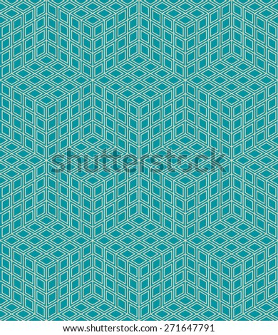 seamless isometric pattern. each detail in separate layer. - stock vector