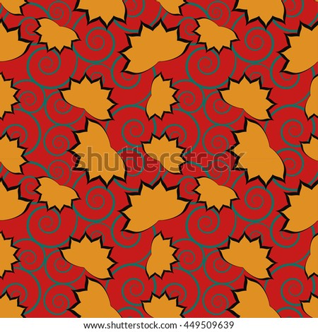 seamless Ivy pattern background
