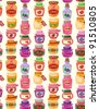 seamless jam pattern - stock vector