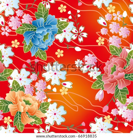 Seamless japanese traditional pattern. Illustration vector. - stock vector