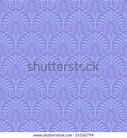Seamless Jugendstil Background - stock vector