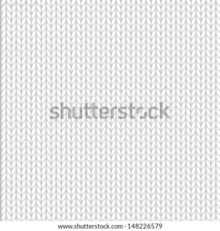 Seamless knit pattern - stock vector